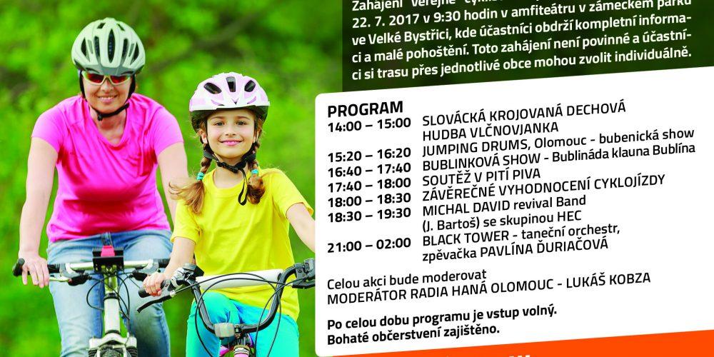 Cyklovýlet mikroregionu Bystřička 22.7.2017